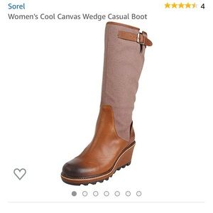 Sorel Cool Canvas Wedge Boot